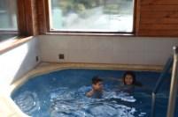 Descongelando na piscina aquecida