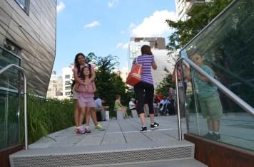 Um dos acesso à High Line