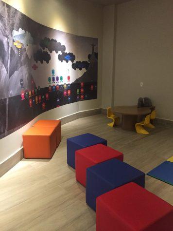 Espaço kids no lobby