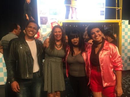 Com os atores Pablo Luan e Mirielle Cajuhy e a assessora Calincka Crateús