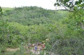 Aventura das crianças na trilha