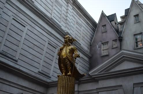 Na frente do Banco deGringotts