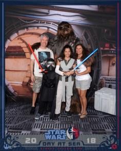 A família com Chewbacca