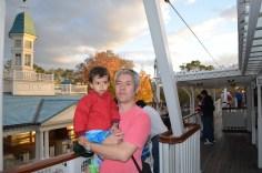 No barco