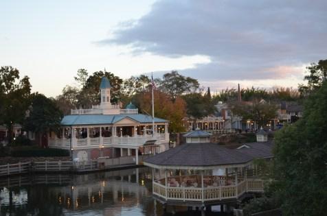 O parque, a partir do barco