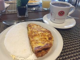 Tapioca e omelete