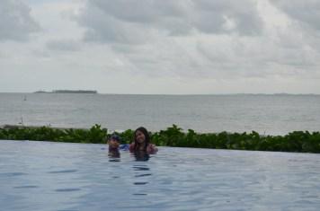 Ilha de Santo Aleixo ao fundo