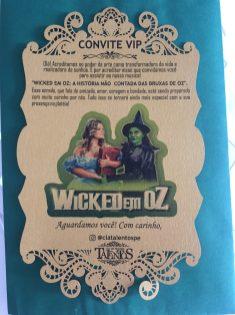 Convite vip de Wicked