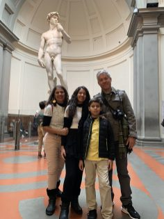 Na Galleria dell'Accademia podemos ver várias obras do Michelangelo escultor