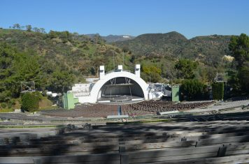 Hollywood Bowl - letreiro ao fundo