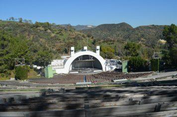 Hollywood Bowl - letreiro ao fundo