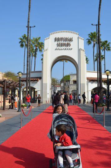 Universal Studios Hollywood com crianças pequenas