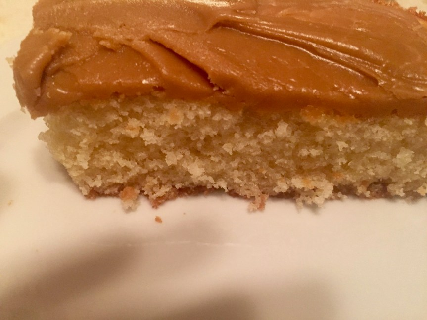 Yellow Cake with Penuche Frosting