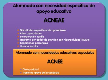 Gráfico que representa la diferencia entre acneae y acnee y sus relaciones