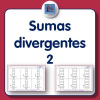 Fichas de sumas para imprimir divergentes de una y dos cifras