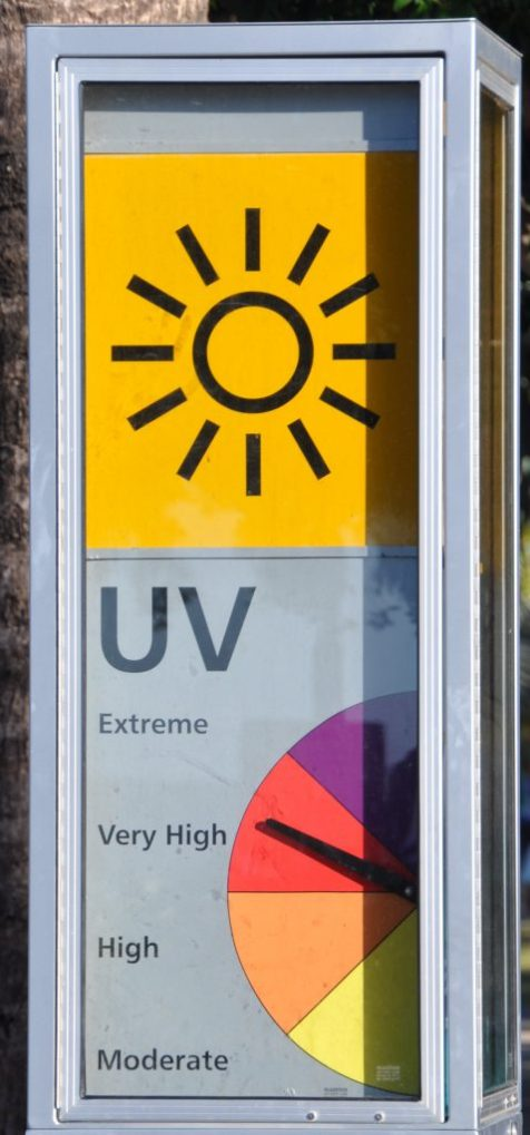 (C) Jule Reiselust: Anzeige des UV-Index in Cairns/Queensland