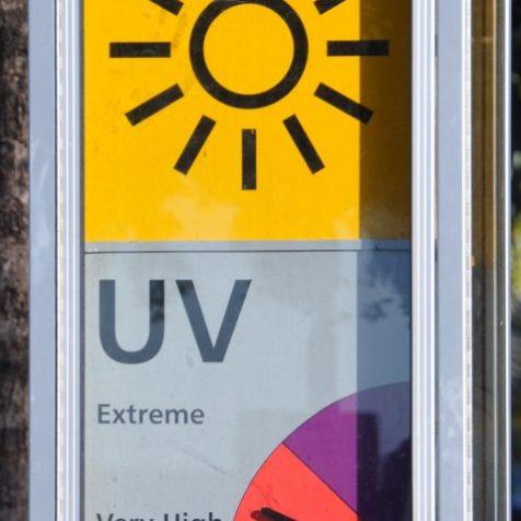 (C) Jule Reiselust: Anzeige des UV-Index in Cairns/Queensland