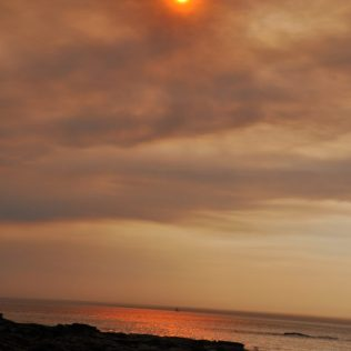 (C) Jule Reiselust: Sonnenuntergang Gantheaume Point.