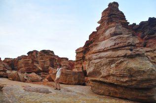 (C) Jule Reiselust: Rote Sandsteinklippen am Gantheaume Point.