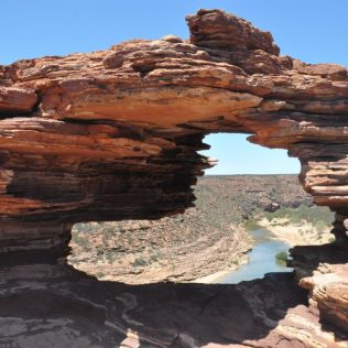 (C) Jule Reiselust: Nature Window im Kalbarri Nationalpark.