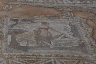 (C) Jule Reiselust: Bodenmosaik in einem Gebäude auf dem Geländedes Aphrodite-Heiligtum.