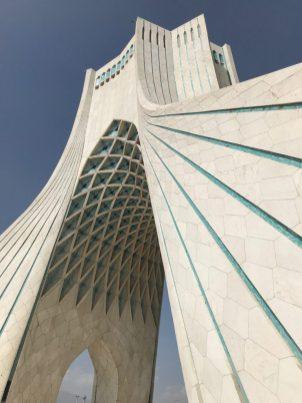 (C) Jule Reiselust: Azadimonument - von der Plattform im oberen Bereich hat man einen 360° Rundblick auf Teheran.