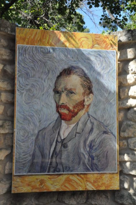 (C) Jule Reiselust: Selbstporträt Vincent van Goghs.