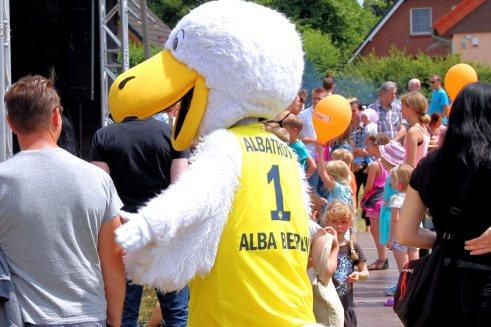 Der Albatros von ALBA Berlin.