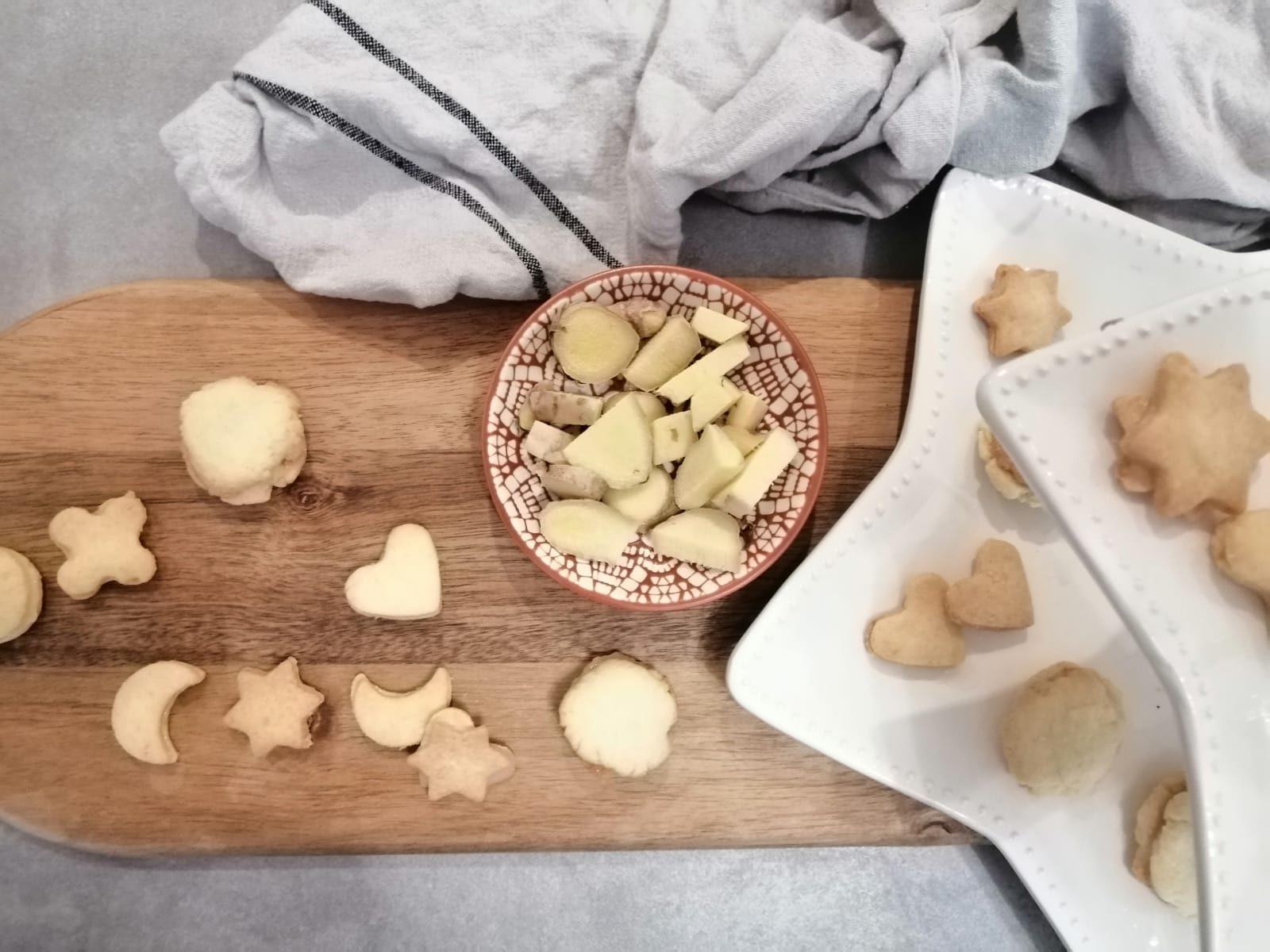 Ingwerplätzchen mit Zitronenguss