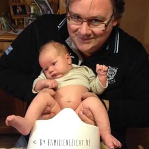 Mein Mann mit unserem Sohn (3 Wochen alt)