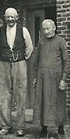 Hans Christian Iversen og Dorothea Marie Nielsen på deres ældre dage, hvor de flyttede til Lem i Himmerland, hvor deres datter boede, efter besættelsen i 1940