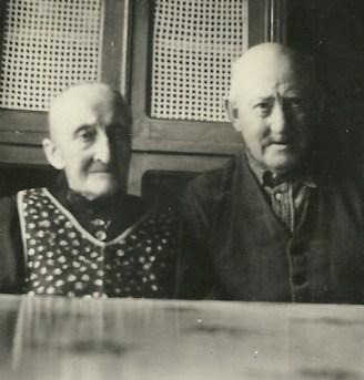 Dorothea Marie Nielsen med sin mand Hans Christian Iversen