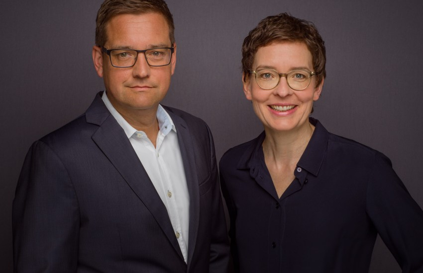 Birte Hackenjos und Harald Wagner (Haufe Group)