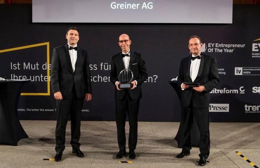 """Familienunternehmen Greiner mit """"Sonderpreis der Generationen"""" beim EY Entrepreneur Of The Year 2020 ausgezeichnet"""