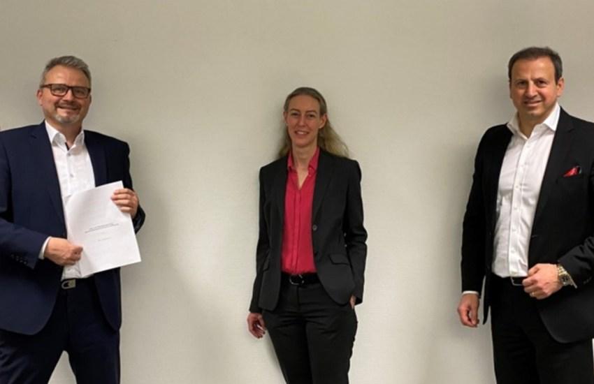 Dr. Wolfgang Braun (Vorsitzender der Geschäftsführung), Claudia Eißmann (Vorsitzende des Beirats), Sami Sagur (Kaufmännischer Geschäftsführer)