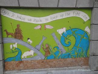 Wandbild im International Youth Hostel Dublin