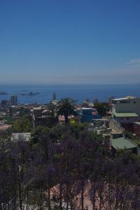 Mauerkunst am Meer - Staunen in Valparaiso - Blick auf den Hafen von Valparaiso