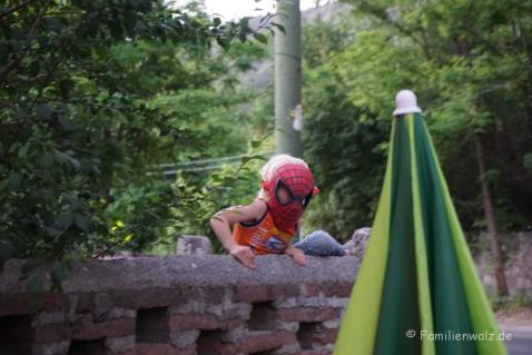 Spiderman unterwegs in San Alfonso