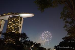 Feuerwerk am Hotel Marina Bay Sands