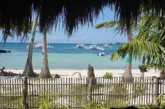 Blick aus unserem Bungalow auf Malapascua Island