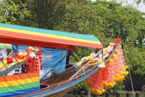 Bootfahren in Bangkok