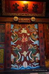 geschnitzte Tür in Hoi An