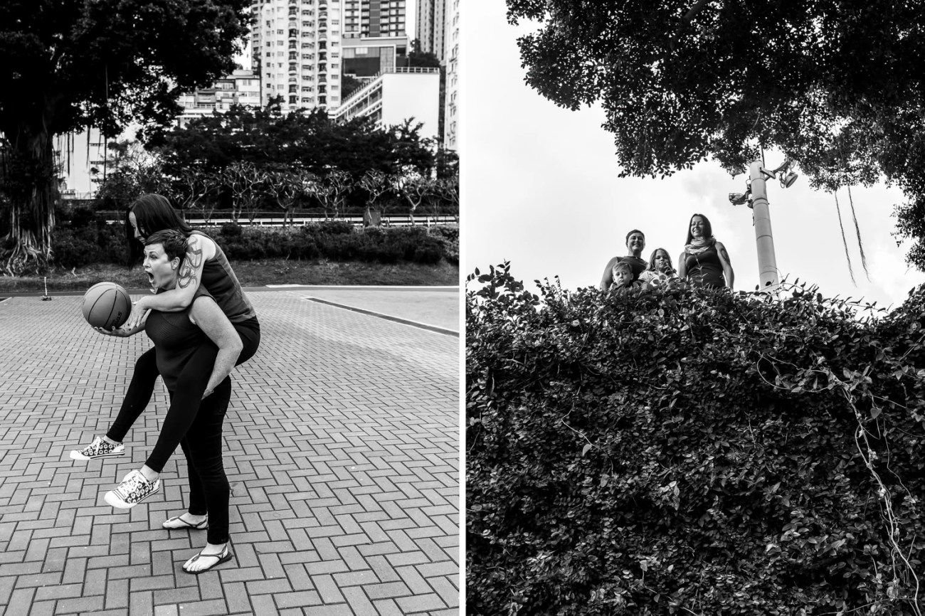 family photos with two mums, two boys and a lot of fun