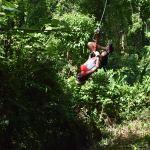 Kids having a blast ziplining in Costa Rica