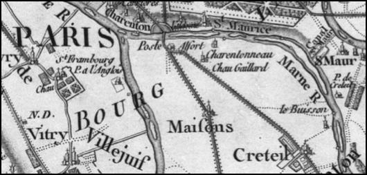 Maisons och Alfort utanför 1700-talets Paris.