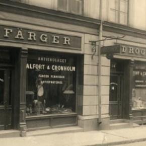 John Alforts första färghandel på Norrlandsgatan 14