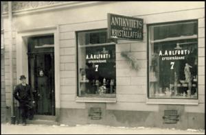 Axel Alfred Ahlforts efterträdare på Malmskillnadsgatan 7 i Stockholm