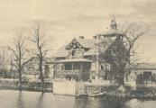 Villa Haganäs vid Svartån på ett gammalt vykort.