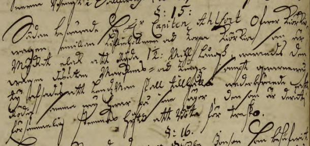 Erik klagar på kyrkvägen 1702. Ur Ydre Härads dombok.