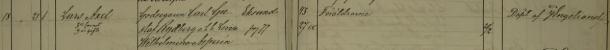 Lars Axels dop 1888. Vittnen: Föräldrarne. Borg och Löts församling.
